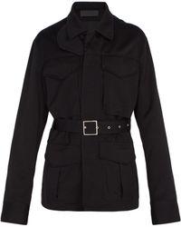 Haider Ackermann - Belted Wool Utility Jacket - Lyst