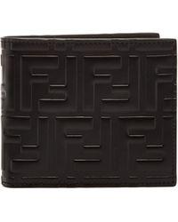 Fendi - Logo Embossed Bi Fold Wallet - Lyst