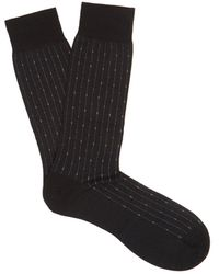 Pantherella - Palmer Pinstriped Cotton-blend Socks - Lyst