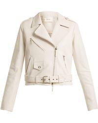 The Row - Perlin Leather Biker Jacket - Lyst
