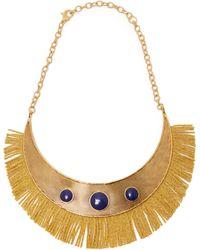Aurelie Bidermann - Azzura Lapis Stone Fringe Necklace - Lyst