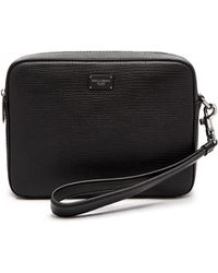 Dolce & Gabbana - Grained Leather Camera Pouch - Lyst