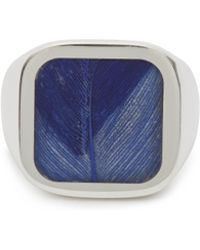 Maison Margiela - Feathered Ring In Klein Blue - Lyst
