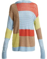 House of Holland | Patchwork Hooded Wool-blend Jumper | Lyst