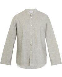 Zimmerli - Cotton And Linen-blend Pyjama Top - Lyst