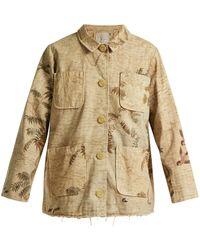 By Walid | Hazy-jungle Print Cotton-canvas Jacket | Lyst