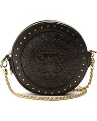 Balmain - Stud-embellished Leather Cross-body Bag - Lyst
