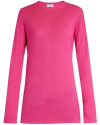 Raey - Long-line Fine-knit Cashmere Sweater - Lyst