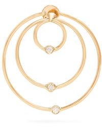 Delfina Delettrez - Diamond & Yellow-gold Hoop Single Earring - Lyst