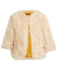 Yves Salomon - Cropped Feather-embellished Jacket - Lyst