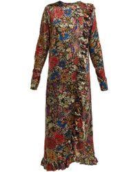 By Walid - Suna Antique Silk Dress - Lyst