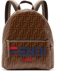 Fendi - Mania Ff Print Leather Backpack - Lyst