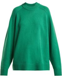 Tibi - Cashmere Crewneck Oversized Pullover - Lyst