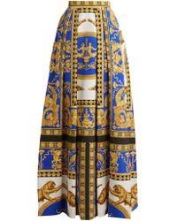 Versace - Lovers Baroque Printed Silk Cotton Skirt - Lyst