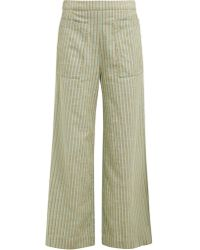 Ace & Jig Laure Striped Wide Leg Cotton Pants