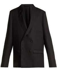 Lemaire - Double-breasted Crepe Blazer - Lyst