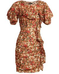 Isabel Marant - Face Floral-print Ruffle-trimmed Dress - Lyst