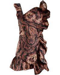 Isabel Marant - Malvern Ruffle Trimmed Floral Print Cotton Dress - Lyst