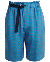 JOSEPH - Louis Polka Dot Print Silk Chiffon Shorts - Lyst