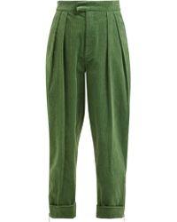 Preen Line - Deena Zip Cuff Cotton Corduroy Trousers - Lyst
