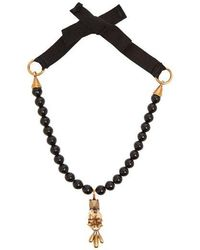 Valentino - Floral Rockstud-pendant Beaded Necklace - Lyst
