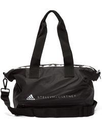 Lyst - adidas By Stella McCartney Small Gym Bag - Black gunmetal in ... d1c9b501295d6
