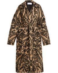 Raey - Dropped-shoulder Tiger-print Blanket Coat - Lyst
