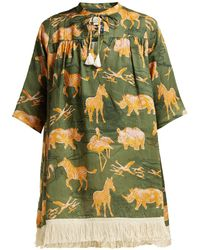 Chufy - Safari-print Linen Top - Lyst