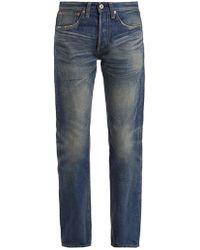 Junya Watanabe - Straight-leg Washed Cotton-denim Jeans - Lyst