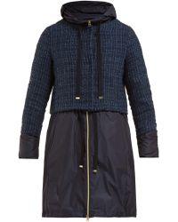Herno - Manteau double-épaisseur en tweed bouclé - Lyst