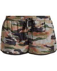 The Upside - Striped Camouflage-print Performance Shorts - Lyst