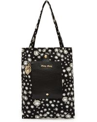 Miu Miu - Daisy Print Roll Away Nylon Tote Bag - Lyst