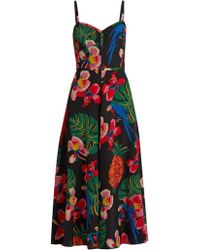 Valentino - Tropical Dream-print Silk Crepe De Chine Dress - Lyst