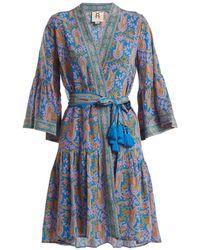 Figue - Caroline Paisley-print Silk Wrap Dress - Lyst