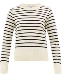 AMI - Breton Stripe Wool Sweater - Lyst