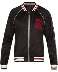 Dolce & Gabbana - College Style Bomber Jacket - Lyst