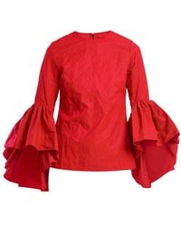 Marques'Almeida - Oyster Bell Sleeve Cotton Top - Lyst