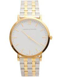Larsson & Jennings - - Lugano Stainless Steel Watch - Mens - Gold - Lyst
