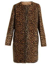 Yves Salomon - Reversible Collarless Animal-print Shearling Coat - Lyst