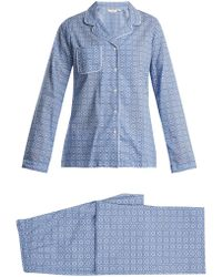 Derek Rose - - Ledbury 5 Cotton Pyjama Set - Womens - Blue Print - Lyst