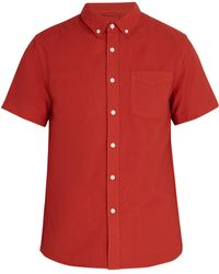 Saturdays NYC - Esquina Short-sleeved Cotton Shirt - Lyst