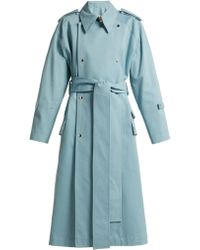 Acne Studios - Double Breasted Cotton Trench Coat - Lyst