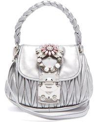 Miu Miu - Mattelassé Leather Cross-body Bag - Lyst