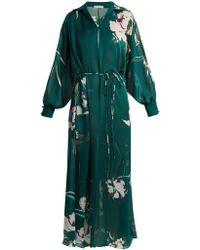 Carine Gilson - Floral-print Silk-satin Kaftan - Lyst