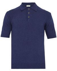 bcbcffacdcba Éditions MR - Positano Terry Cloth Cotton Blend Polo T Shirt - Lyst
