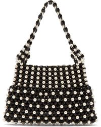 Shrimps - Quinn Faux Pearl Embellished Bag - Lyst