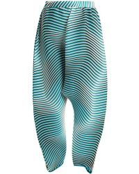 Issey Miyake - Flow Cosmic Pleated Dropped-crotch Trousers - Lyst