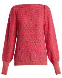 M.i.h Jeans - Celia Pointelle Mohair-blend Sweater - Lyst