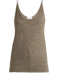 Raey - Deep Scoop-neck Jersey Cami Top - Lyst