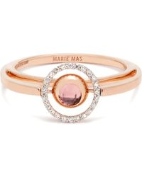 Marie Mas | Diamond, Amethyst, Topaz & Pink-gold Ring | Lyst